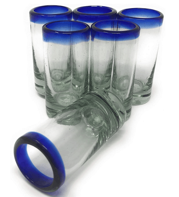 hand blown mexican shot glasses
