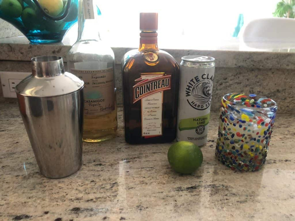 casamigos and white claw lime spritzer