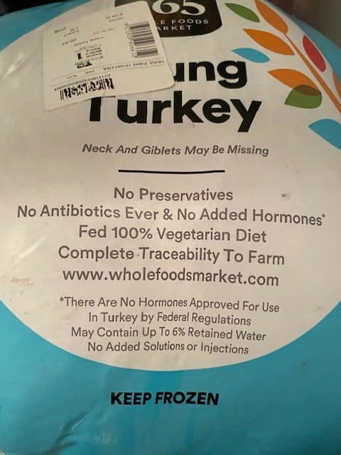 whole foods young turkey