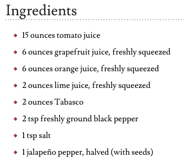 sangrita recipe