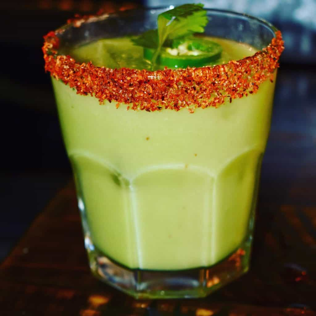 spicy avocado margarita